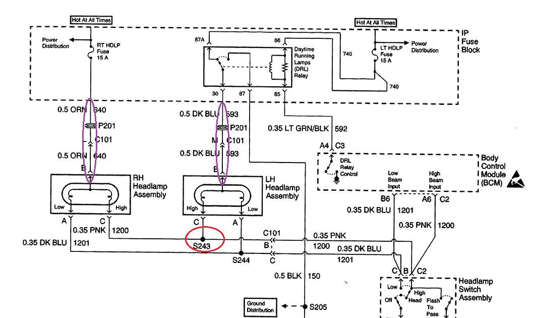 2002 Chevy Cavalier Headlight Wiring Diagram