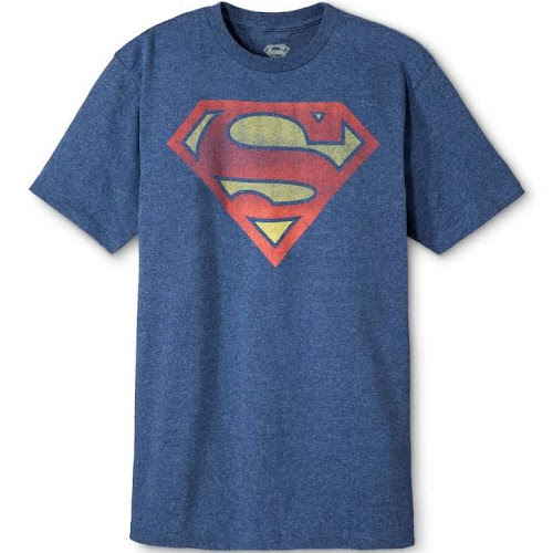 Men's Superman Shield T-Shirt - Blue S, Size: Small