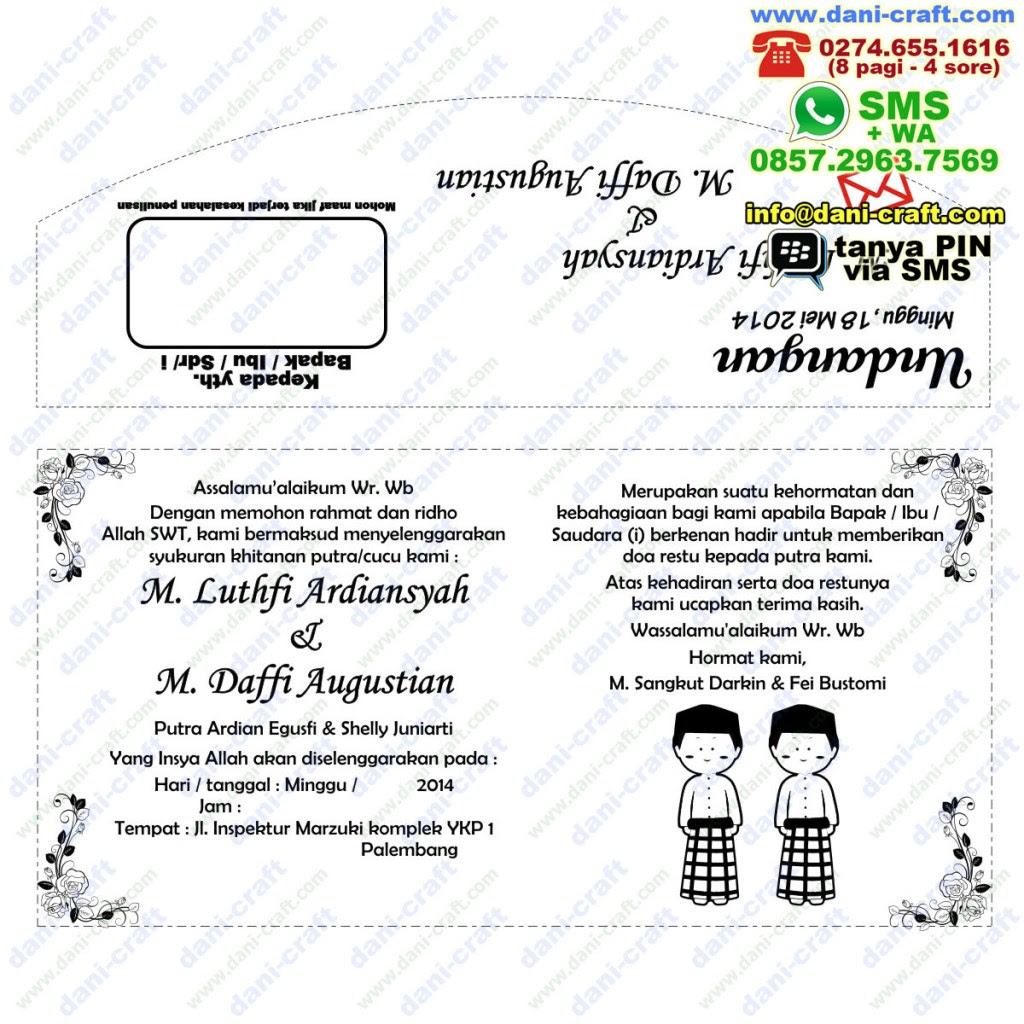 contoh undangan khitanan bahasa indonesia contoh isi
