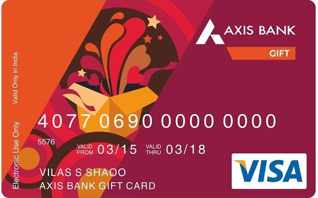 Buy Axis Bank gift card worth ₹5000 @ ₹4700/- at Amazon