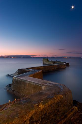 Breakwater in St. Monans, Fife by svensl
