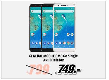 GENERAL MOBILE GM8 Go Single Akıllı Telefon 749TL