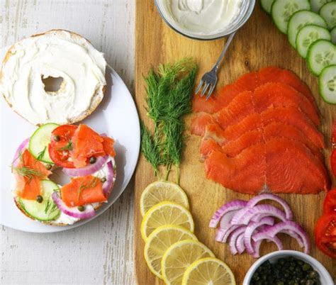 smoked salmon breakfast platter smoked salmon bagel