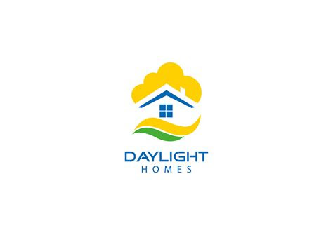 traditional house logo design  daylight homes