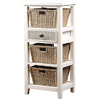 Hillsdale Tuscan Retreat Basket Stand with Three (3) Baskets - Frost Finished