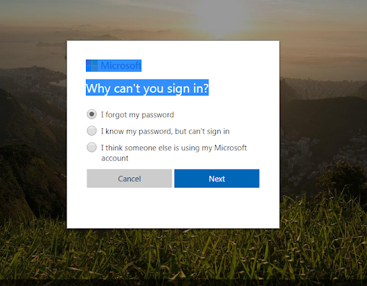 How to recover a forgotten Hotmail password?