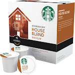 Starbucks K-Cups, Coffee, Ground, Medium Roast, House Blend - 16 pack, 0.42 oz k-cups