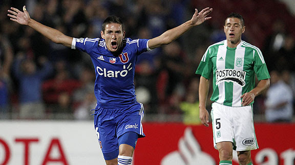 UNIVERSIDAD DE CHILE 2 - ATLETICO NACIONAL 1