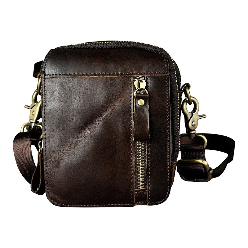Cheap Fashion Real Leather Multifunction Small Pouch Waist Pack Cross-body Bag Cigarette Case 5.5 Phone Pouch Waist Belt Bag 6807c