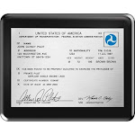 Pilot Certificate Plaque - Black Piano-Finished Wood