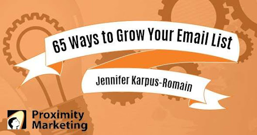 65 Ways to Grow Your Email List - Digital Marketing Agency Cleveland