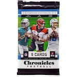NFL 2020 Chronicles Football Trading Card MEGA Box Pack [5 Cards]