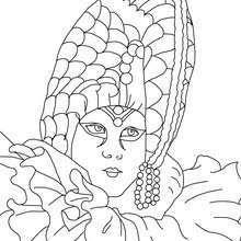Coloriages Masque Perlé Carnaval Venise à Colorier Frhellokidscom