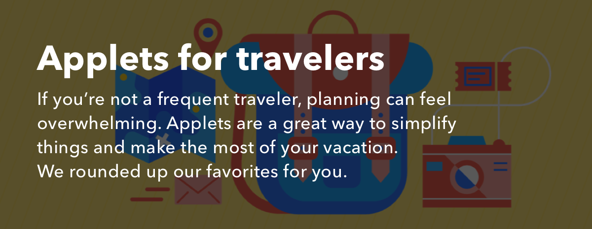 Applets for travelers