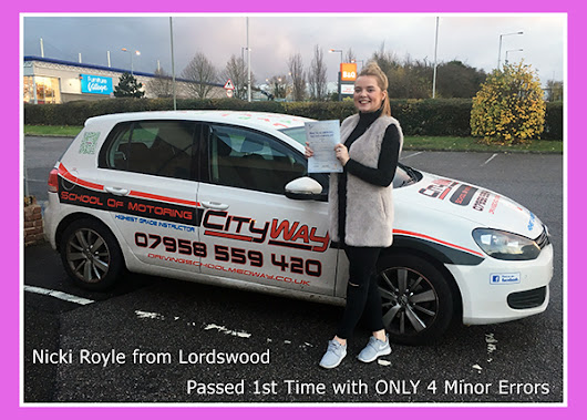 Driving Lessons Lordswood Nikki Royle | Your route to a 1st Time Pass