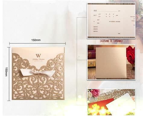 Wholesale Personalized Wedding Invitation Cards Gold