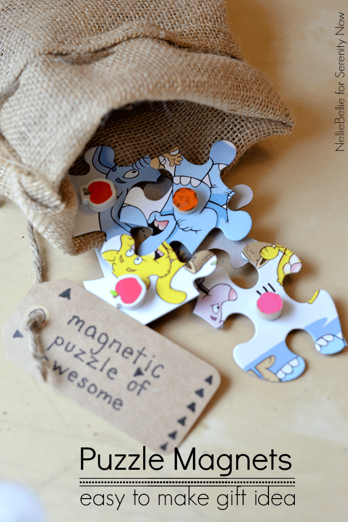 diy puzzle magnets