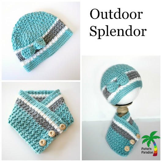 New Crochet Pattern - Outdoor Splendor Hat and Cowl - Pattern Paradise