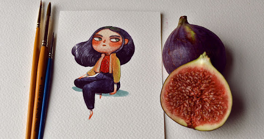 I Spent A Couple Months Re-Imagining Fruits And Vegetables As Watercolor Characters