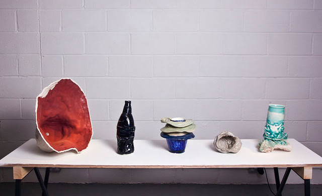 012 A mixture of sand moulded and composite works by Johannes Nagel for Gallery Fumi