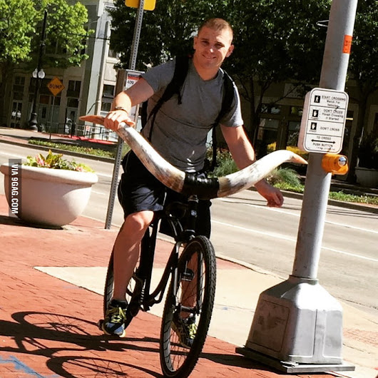 How you know you are in Texas - Longhorn Bike