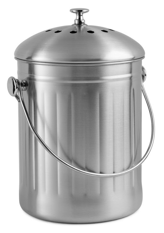 Review ~ Chef's Star Stainless Steel Compost Bin - Desafio In The City