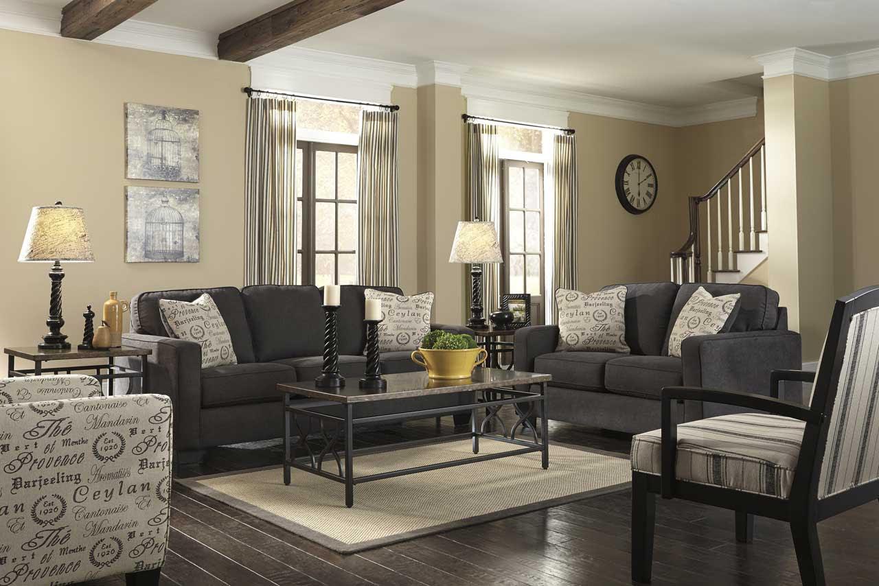Living Room with Dark Wood Floors - HomesFeed
