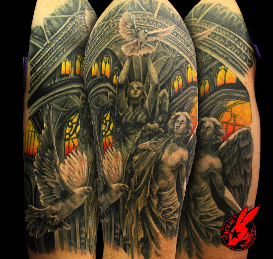 Heaven And Hell Sleeve Tattoo Designs More Information Modni Auto
