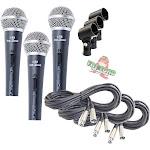 Instrument Vocal Microphones - Wired Singing Handheld Recording Studio Mic PACK