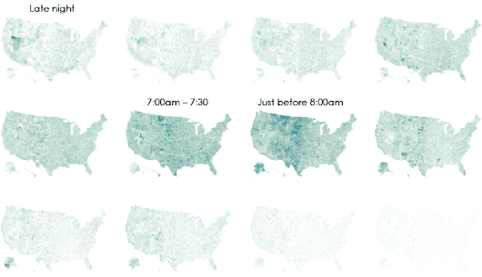 Interactive: When Do Americans Leave For Work?