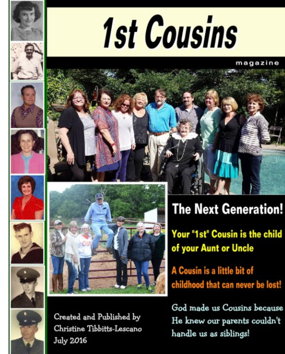 1st Cousins The Next Generation By Christine Tibbitts Lescano