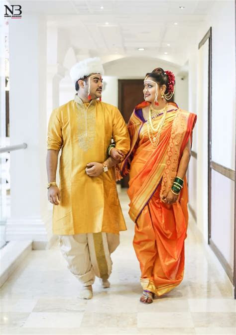 Marathi Wedding Dress For Bride And Groom   Image Wedding