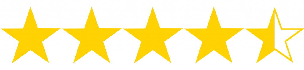 Image result for 4.5 of 5 stars