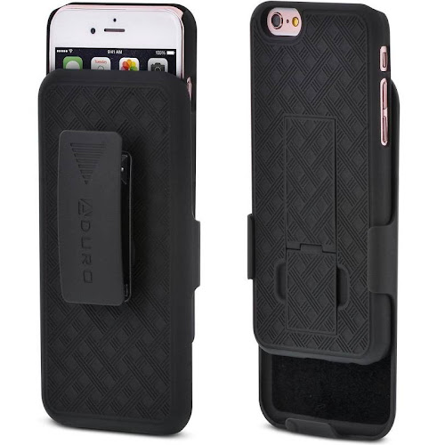 Aduro iPhone 6S/6 Combo Shell & Holster Case - Black