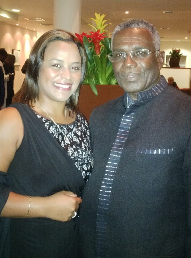 Michelle and British acting legend Rudolph Walker, OBE
