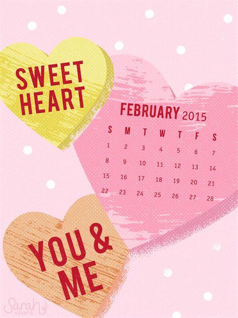 february  calendar wallpaper sarah hearts