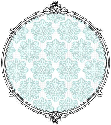 Batik Flower Snowflakes - free printable paper SAMPLE
