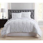 Truly Soft Pleated Twin XL Duvet Set - White