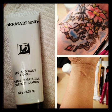 Camouflage makeup .. Tattoo cover up #dermablend #