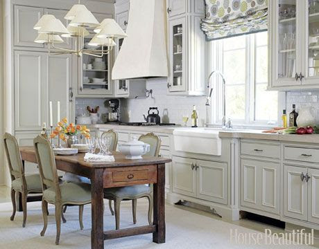 Eat-in kitchen with a French twist.