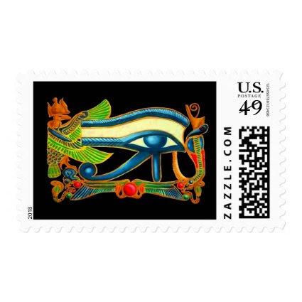 Eye Of Horus on black Stamp