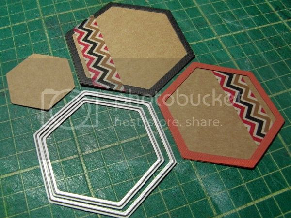 Photo - Counterfeited Hexies - washi taped