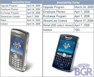 T-Mobile Blackberry 8820, 8120 Launch Gets Scheduled