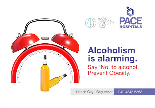 Alcoholism can lead to obesity