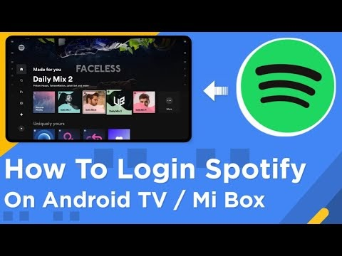 How To Login Spotify On Android TV | Mi Box | Mi TV Stick | ✨ 2021