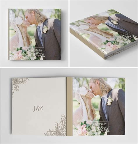Wedding Album Book Cover Template for Photographers #