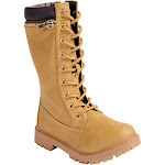 Anna Dallas 17K Girls Lug Sole Lace Up Zip Ankle High Hiking Boots with Top Zipper
