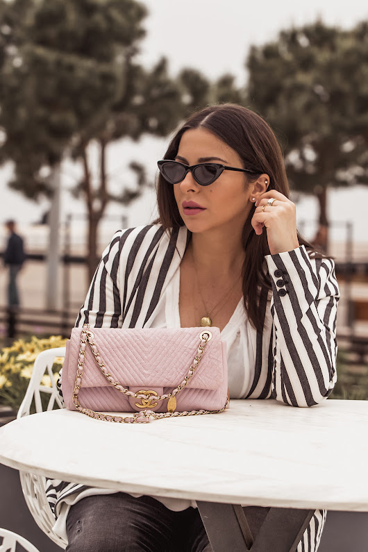 How To Wear A Striped Blazer For Spring | Stella Asteria
