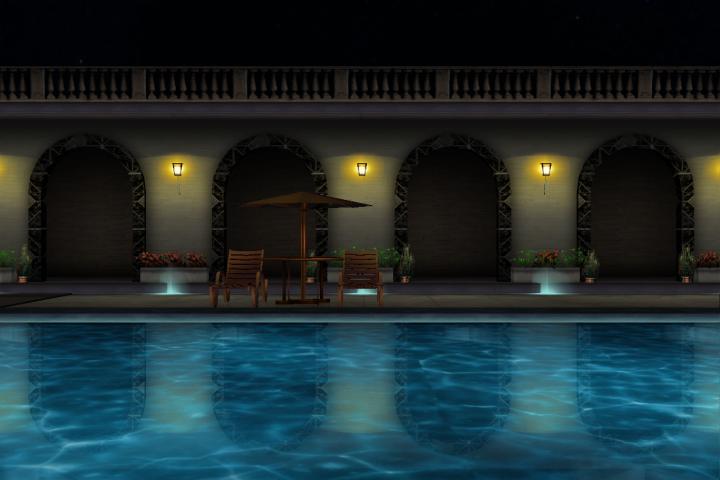 MMD Elegant Pool Night