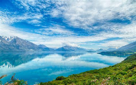 zealand lake pukaki heavenly blue water blue sky